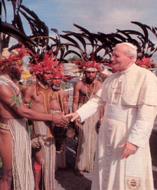 John Paul II in Oceania