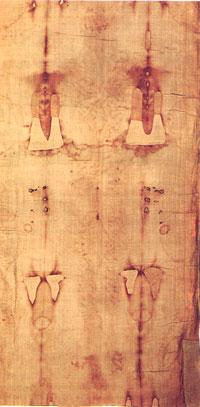 Silhouette dorsale du Saint Suaire