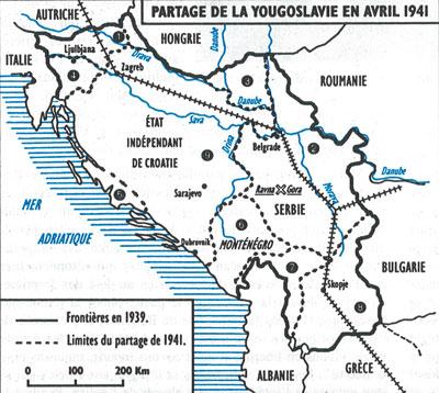 carte de la nouvelle yougoslavie